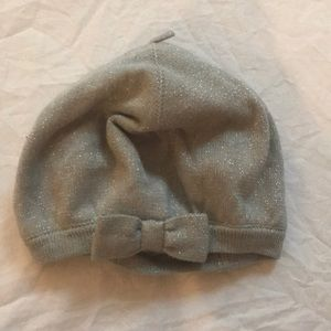 adorable silver Janie and Jack hat! NWT!